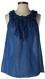 BCBGeneration Sleeveless Ruffle Top Blue