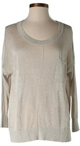 Club Monaco Oversized Scoop Neck Metallic Sweater