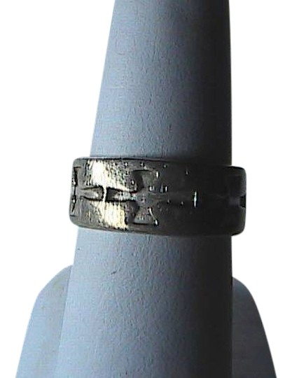 Vintage Sterling Silver Cross Band Ring