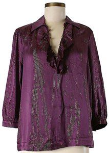 Ella Moss Silk Metallic Oversized Tunic