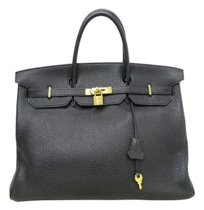 Hermès Hermes Togo Leather Tote in black