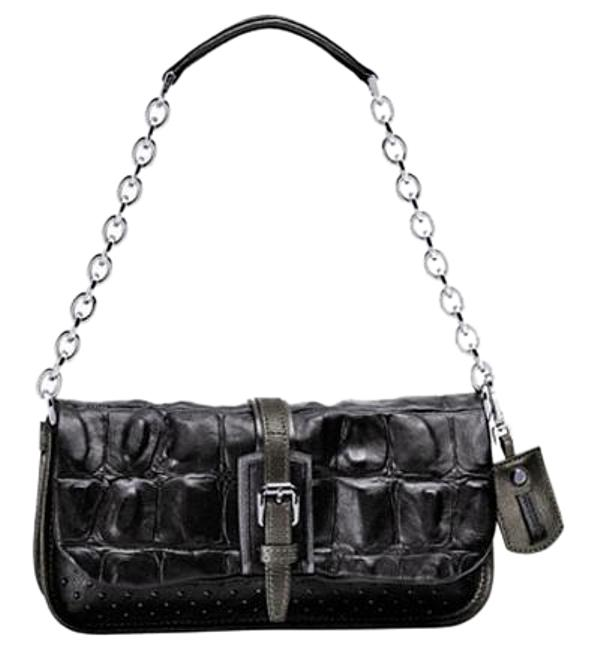 Longchamp More Is More Black Leather Clutch Longchamp More Is More Black Leather Clutch Image 1