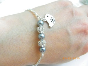 Grey Set Of Bridesmaid Gift Bird Charm Bracelet