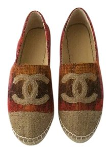 Chanel 2016 16c Pink Espadrilles Brown Flats