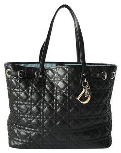Dior Quilted Tote in Black