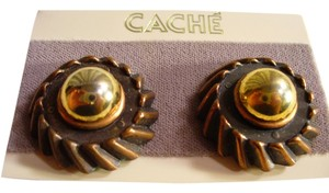 Cache VINTAGE CACHE BRONZE GOLD PIERCED EARRINGS