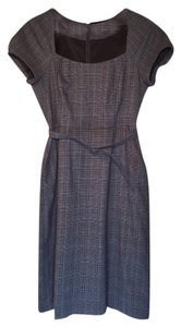 Banana Republic Plaid Black Gray Grey Dress