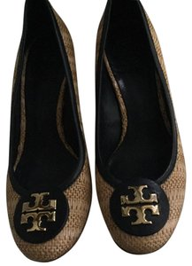 Tory Burch Tan/Blue Wedges