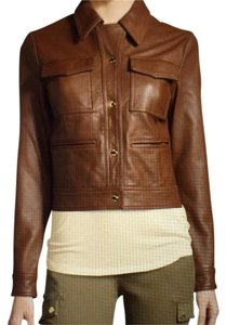 Michael Kors Luggage Leather Jacket