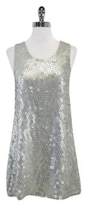 Alice + Olivia short dress Silver Sequin Sleeveless Silk on Tradesy