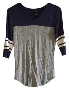 Rue 21 T Shirt Navy, grey, white