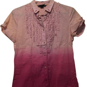 A|X Armani Exchange Top Pink/white ombre
