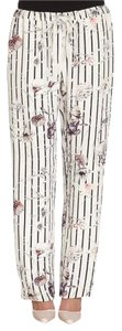 Marchesa Voyage Floral Striped Wide Leg Pants Blue multi