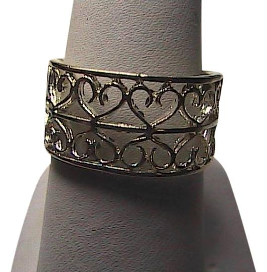 Preload https://item4.tradesy.com/images/sterling-silver-diamond-cut-double-heartswirl-band-ring-1656868-0-0.jpg?width=440&height=440