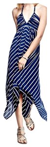 Navy Stripe Maxi Dress by T-Bags Los Angeles