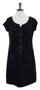 Diane von Furstenberg short dress Black Cotton Short Sleeve on Tradesy