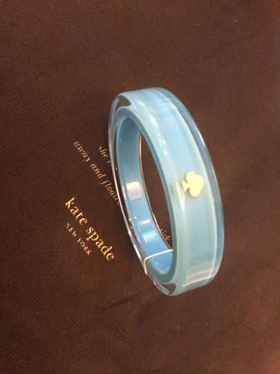 Kate Spade New w/ Tags Kate Spade Around Town Bangle Bracelet Blue Lucite Retro MSRP$38