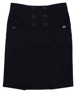 Burberry Black Pinnstriped Skirt