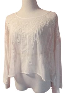 Free People Top Sheer white