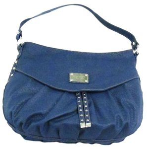 Nine West Slouchy Magnetic Button Tote in blue