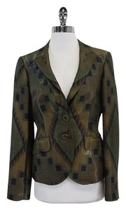 Etro Brown Green Geo Print Jacket