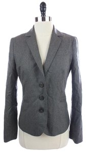 J.Crew J.CREW Gray Wool SUPER 120'S Italian Tailored BLAZER SUIT JACKET Size 4