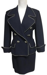 Moschino MOSCHINO NAVY BLUE CLASSIC SKIRT SUIT
