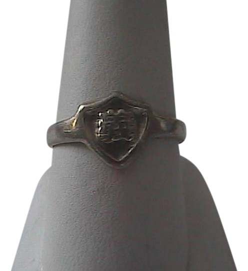 Vintage Sterling Silver GEM SMITH Shield Asian Character Ring