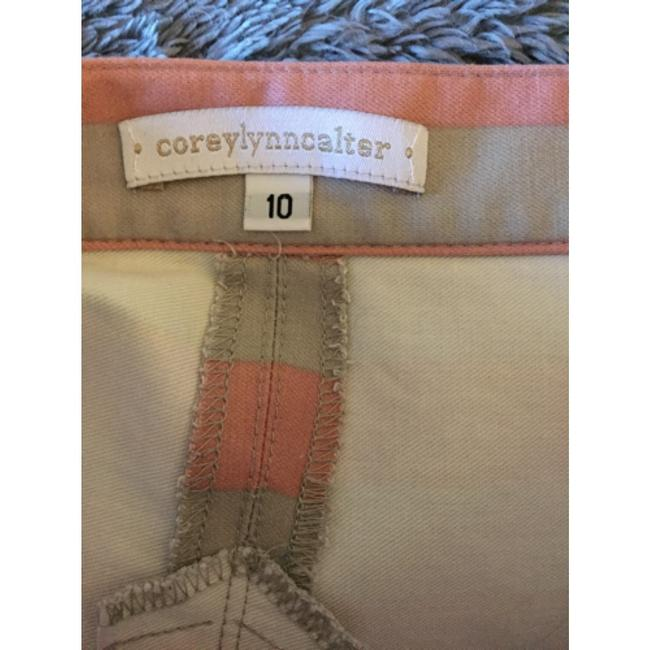 Corey Lynn Calter Anthropologie Skirt pink and grey