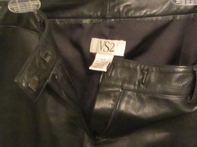 VS2 Leather Relaxed Pants black leather