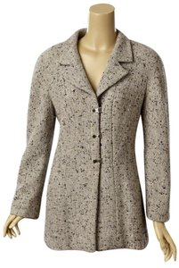 Chanel Chanel Grey and Black Wool Jacket with Gold Metalic Threads, 99A