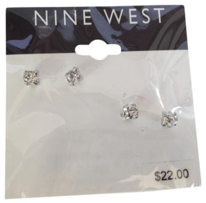 Nine West Nine West silver Crystal Stud Earring Duo