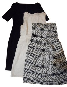 Madewell short dress black white blue The Limited Banana Republic on Tradesy