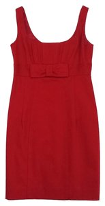 Nanette Lepore short dress Red Sleeveless Waist Bow on Tradesy