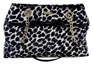 Kate Spade Black White Animal Print Shoulder Bag