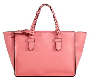Valentino Tbc Tbc Braided T.b.c To Be Cool Tote in Rose pink NWT