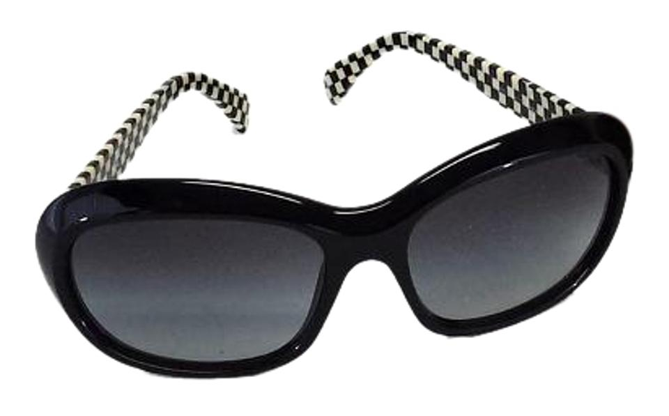 e3005954b5ae Miu Miu Black   Cream Checkered Sunglasses Image 0 ...