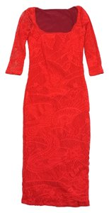 Jean-Paul Gaultier Red Floral Bodycon Dress