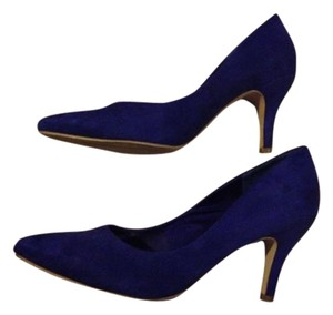 H&M Pump Pointed Toe BLUE FAUX SUEDE Pumps