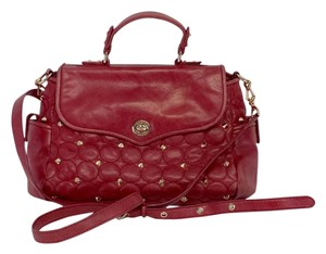Rebecca Minkoff Red Leather Quilted Shoulder Bag