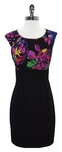 Trina Turk short dress Multi Color Floral Silk Cap Sleeve on Tradesy