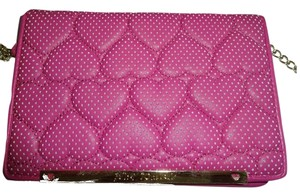 Betsey Johnson Wallet Perforated Hearts Cross Body Bag