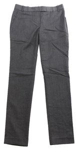 J.Crew Herringbone Wool Unlined Straight Pants Gray