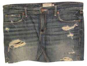Abercrombie & Fitch Mini Skirt blue denim