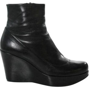 Marc Jacobs Wedge Ankle Leather Black Boots
