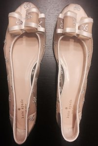 Kate Spade Ivory Ballet Flats Bow Formal Size US 11 Regular (M, B)