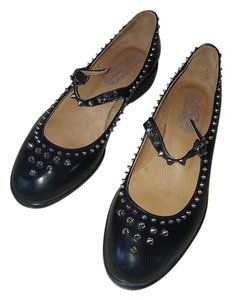 Jeffrey Campbell Black Leather Flats