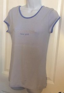 Calvin Klein T Designer T Cotton Stretch T Studded T T Shirt Powder Blue
