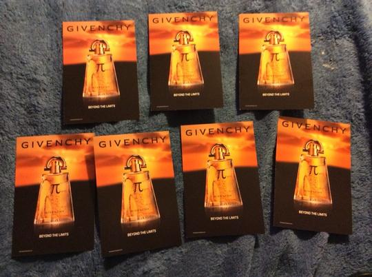 Givenchy Lot Of 7 X Givenchy PI Fragrance Sample Sniff postcards