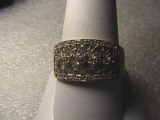 Vintage Sterling Silver Round Cut CZ Band Ring